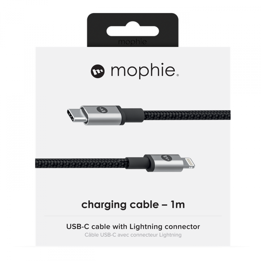 Mophie Charge and Sync Cable USB-C to Lightning 1m Svart
