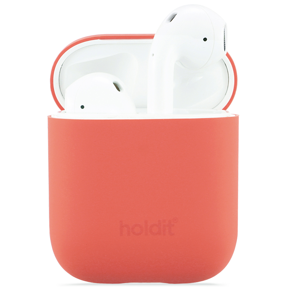 Holdit Silikonfodral Airpods Nygård Coral
