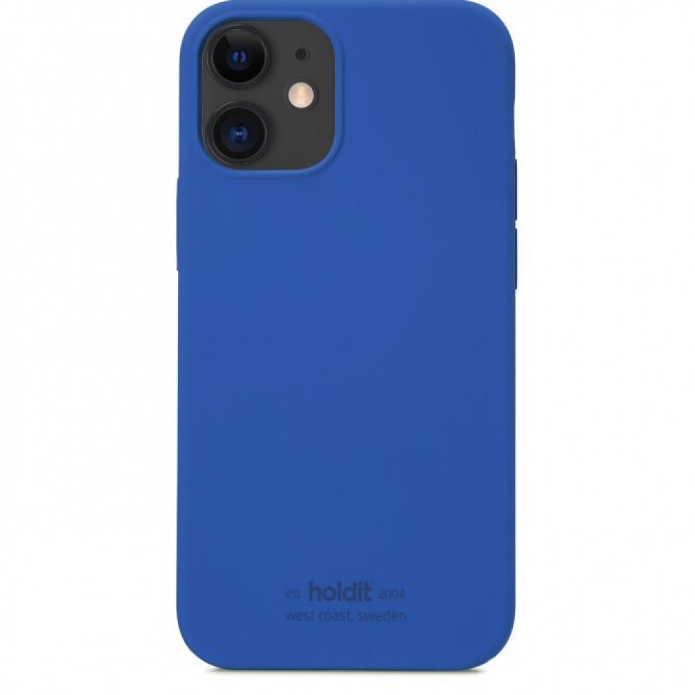 Holdit Silicone Case Iphone 12 mini Blå