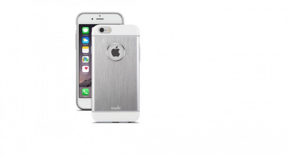 Moshi iGlaze Armour för iPhone 6 Jet Silver