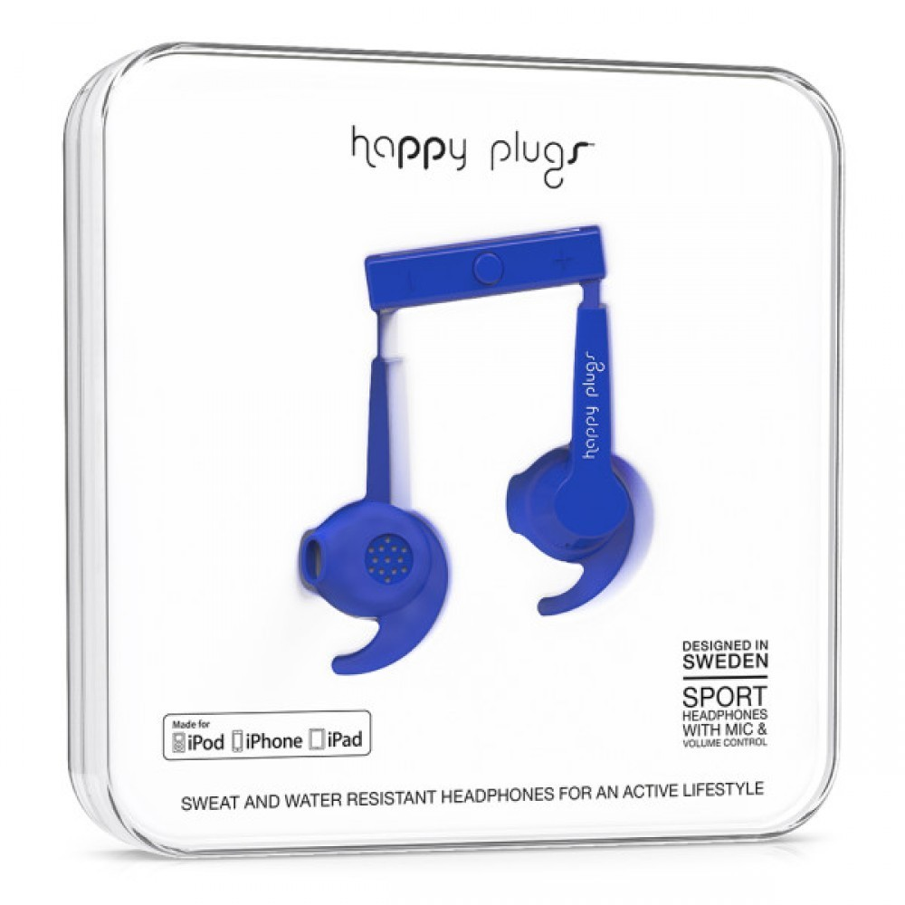 Happy Plugs In-Ear Sport Blå